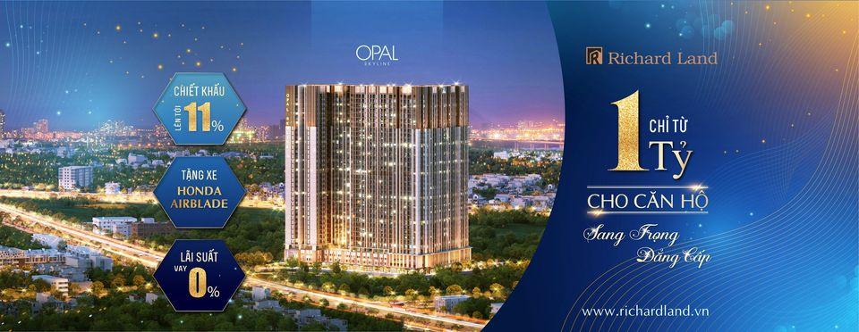 Logo Opal Skyline – Ngọc sáng trời xanh